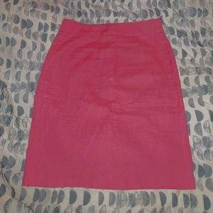 Pink J Crew linen skirt